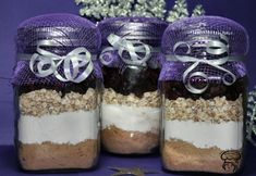 Pots, Cool Gifts, Mason Jars, Muffins, Parfait, Breakfast, Desserts, Barre, Gift Ideas