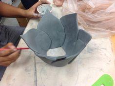 Hannah F -ceramics 1 - in bloom!
