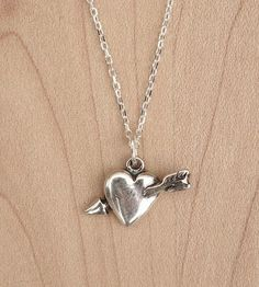 Heart & Arrow Silver Necklace by Muses & Rebels