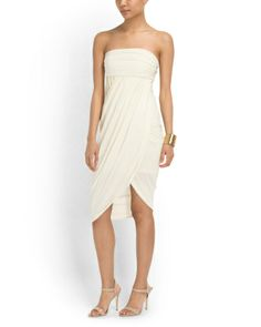 Haute Hippie Strapless Sarong Dress