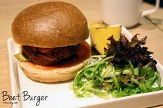 red beet burger at realfood in singapore