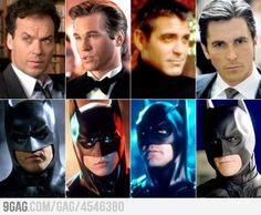 Which one is your favorite?  It's a tie between George Clooney & Val Kilmer (the way he looked then-lol)