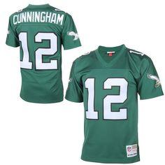 6c5643d7a Mens Philadelphia Eagles Randall Cunningham Mitchell   Ness Midnight Green  Replica Retired Player Jersey