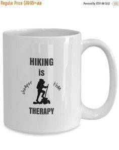 Coffee Mug Gift for Women or Men Hiking is by RLTSourceDesigns