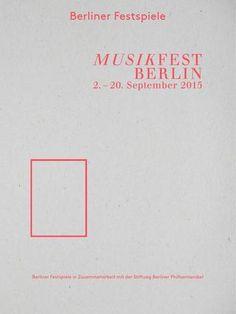 Berliner Festspiele - Musikfest Berlin: Programme 2015