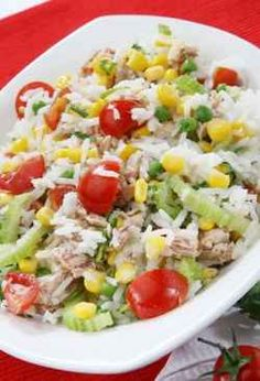 Learning how to make rice salad is very easy and there are so many different ways you can prepare this delicious dish.    Rice salad is perfect for lunch or as part of a buffet, and you can also serve it alongside steak or with chicken or fish.