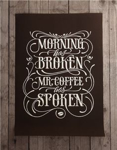 I want this #poster in my future #kitchen. Love the #typography as well, obviously!