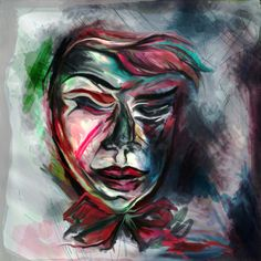 This is a painting with a stranger man filled with many colors and brush touches. This is a kind stranger where you can find him in the tales and books and wants to tell you his story. Painting, Design, Painting Art, Paintings, Design Comics, Drawings
