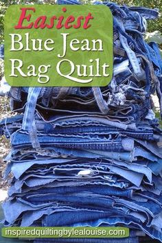 Denim rag quilt - How to Make an Easy Blue Jean Rag Quilt – Denim rag quilt Denim Quilts, Denim Quilt Patterns, Blue Jean Quilts, Beginner Quilt Patterns, Quilting For Beginners, Quilt Patterns Free, Flannel Rag Quilts, Denim Rug, Denim Jeans
