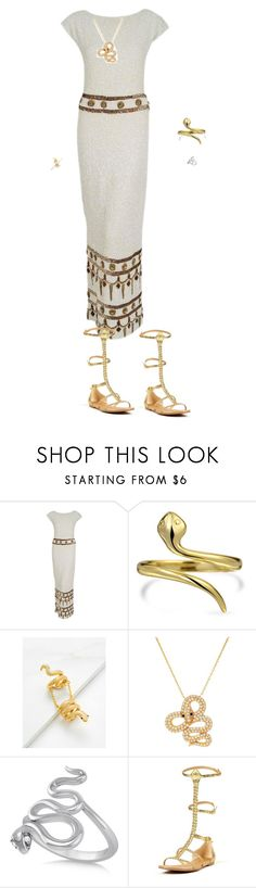 """""""Throne of Glass Nehemia Inspired Outfit"""" by gailgoo on Polyvore featuring Gene Shelly, Bling Jewelry, Lord & Taylor and Allurez"""