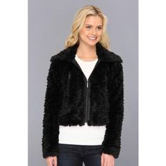 $72, Black Fur Jacket: Kensie Faux Fur Jacket Coat. Sold by 6pm.com. Click for more info: http://lookastic.com/women/shop_items/107266/redirect