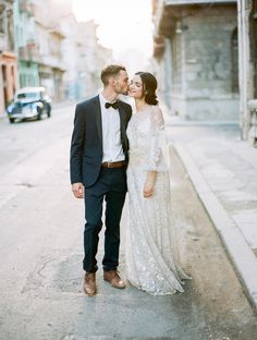 Wedding Inspiration in the streets of Havana via Magnolia Rouge