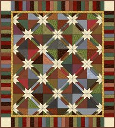 Master the traditional process and a modern variation to make a Hunter Star quilt. Description from designns.net. I searched for this on bing.com/images