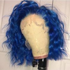 Buy this wavy bob wigs for black women lace front wigs human hair wigs african american wigs – cabelo Curly Wigs, Human Hair Wigs, Pastel Rainbow Hair, Colourful Hair, Pastel Hair, Shampoo For Gray Hair, Curly Hair Styles, Natural Hair Styles, Weave Hairstyles