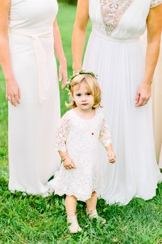 Flower girl with a bohemian flower crown: Photography: Kelly Dillon Photography - www.kellydillonphoto.com   Read More on SMP: http://www.stylemepretty.com/2016/08/24/colorful-boho-bride-stunning-reem-acra-dress/