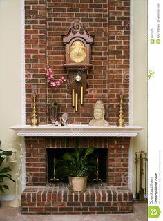 brick fireplaces | More similar stock images of ` Stylish brick fireplace `