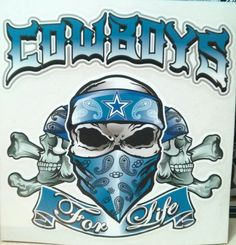 Dallas Cowboys Skulls window decal by JuiceCollection on Etsy, $17.99