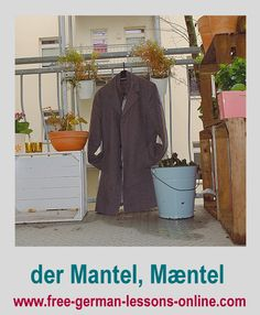 Learn how to say coat in German.