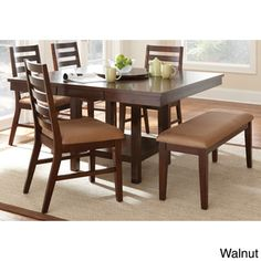 Emery with Lazy Susan Dining Table Set | Overstock.com Shopping - The Best Deals on Dining Sets not counter height but has pedistol storage :-) good price, consider size?
