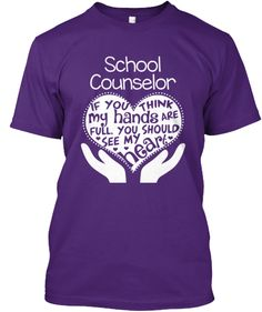 Proud to Be A School Counselor T Shirt Short Sleeve Tshirt