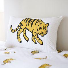 Yellow Tiger single duvet cover
