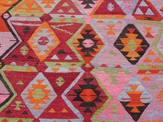 Turkish Antalya Handwoven Kilim Traditional Wool by misterpillow, $548.00 Textiles, Antalya, Homestead, Bohemian Rug, Hand Weaving, Traditional, Quilts, Wool, Blanket