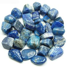 """Tumbled Lapis Lazuli from Pakistan These are nice pieces of """"A"""" grade Tumbled Lapis Lazuli from Pakistan. Lapis Lazuli is made from a Lapis Lazuli Meaning, Egyptian Jewelry, Crystal Shop, Tumbled Stones, Healing Stones, Crystal Healing, Infused Water, Crystals And Gemstones, Aqua"""