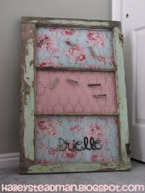 I Love This and That: Old Window Into a peg board.