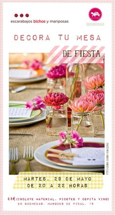 taller decora tu mesa 29 de mayo