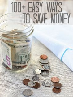 Easy Ways to Save Money I love this awesome list of easy ways to save money! Simple, practical ideas to trim food, household and other various expenses to make saving money easy. Great money saving tips for every family, and many of them new to me! Save Money On Groceries, Ways To Save Money, Money Tips, Money Saving Tips, How To Make Money, Frugal Living Tips, Frugal Tips, Budgeting Money, Money Matters