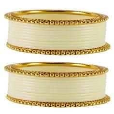 Vidhya Kangan Brass Women Bangles Color   White Bangles on Shimply.com
