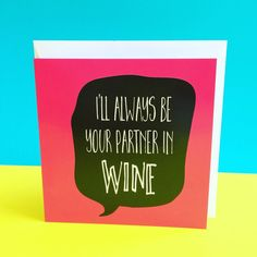 Wine birthday card funny birthday card card for by LukannaDesigns