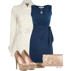 DVF Dress and Lace Coat