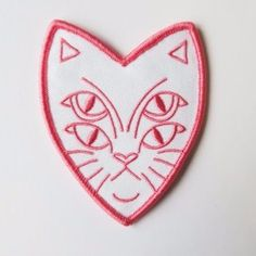 'Four Eyed Cat' Patch (2 Colors!) – Gimme Flair
