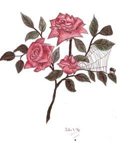 A rosa e a Aranha by LethiSteyer.deviantart.com on @deviantART
