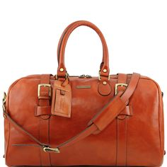 TL Voyager TL141248 Leather travel bag with front straps large size - Borsa  da viaggio in 7078bd30ac0d