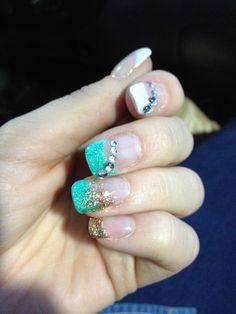 Ongles au gel par Annie Trudel Gel nails Stephanie's model