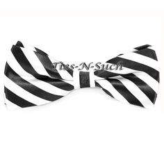 Gegeous: Black & White Hand Made Bow Tie