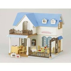 Sylvanian Families Cafe - I WANT this house - it is for her Chocolate Bunnies family business. About to be released in Australia. (Have put a ore-order in. Due Sept)