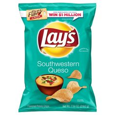 Lays Southwestern Queso Flavored Potato Chips - 7.75oz
