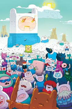 Boom! Comics November Solicitations are out!. Here's the first of four covers I did for Adventure Time issues #70 - #73. I'm in the process of doing the pages as well.