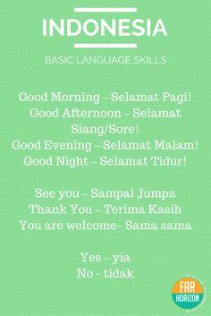 REBLOGGED - Bahasa Indonesia - Basic Indonesian Words. #indonesian #language #bahasa…