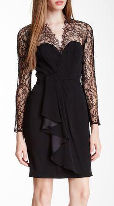 Catherine Malandrino Black Label Emanuelle Bustier Silk Dress