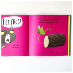 """""""""""But I don't want to sit on a log,"""" said the frog. """"Logs are all hard and uncomfortable. And they can give you splinters.""""   This book about rhyming…"""""""