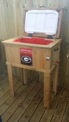 4fbbdd9c74e UGA Pallet wood cooler stand Wood Cooler