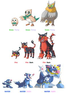 Alola Starters Evolution ideas by rizegreymon22.deviantart.com on @DeviantArt