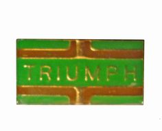 "TRIUMPH MOTORCYCLE vintage enamel pin badge pinback by VintageTrafficUSA  11.00 USD  A vintage Triumph enamel pin used but excellent condition. Measures: approx 1"" or less Have some individuality = some flair! -------------------------------------------- SECOND ITEM SHIPS FREE IN USA!!! LOW SHIPPING OUTSIDE USA!! VISIT MY STORE FOR MORE ITEMS!!! http://ift.tt/1PTGYrG FOLLOW ME ON FACEBOOK FOR SALE CODES AND UPDATES! http://ift.tt/1P57awb OR FOLLOW ME ON TWITTER…"