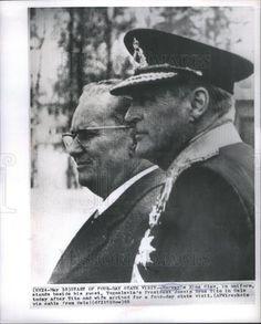 1965 Press Photo King Olay of Norway & Yugoslavia's President Jossip Broz Tito - Historic Images