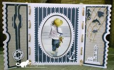 Mini Albums, Ticket Card, Dice Box, Nautical Cards, Beach Cards, Sea Theme, Marianne Design, General Crafts, Unique Cards