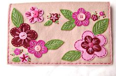 HALF OFF Knitting Needle Case Embroidered Wool by SewSweetStitches